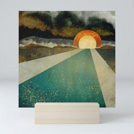 Retro Sunset Mini Art Print