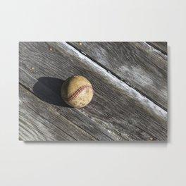 Old Baseball 7 Metal Print