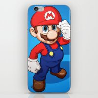 mario iPhone & iPod Skins featuring Mario by Ryan Ketley