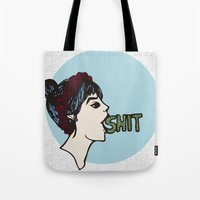 shit Tote Bags featuring Shit by Gaab D'Amato