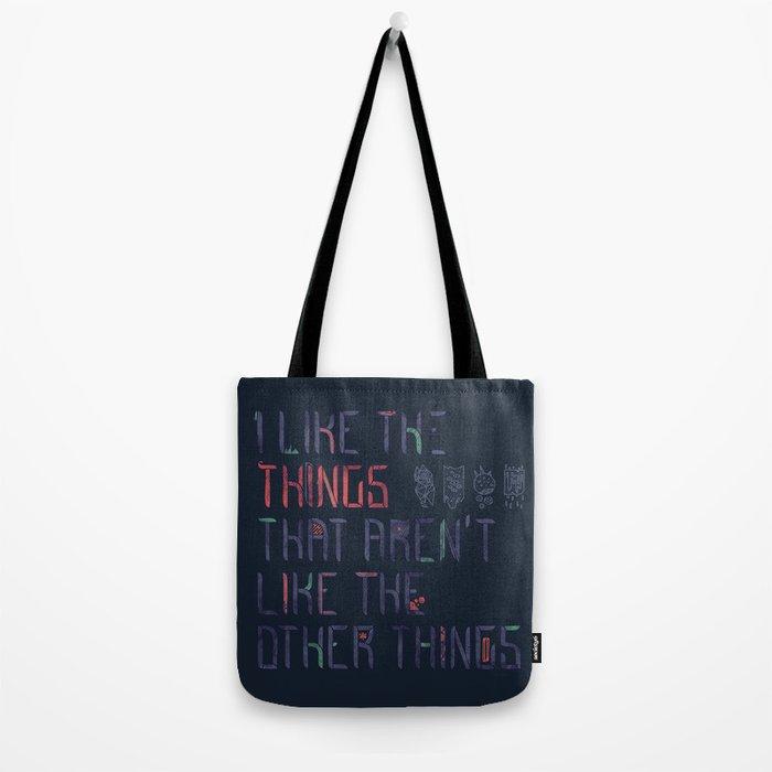 The Things I Like Tote Bag