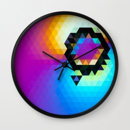 yellowpinkblue Wall Clock