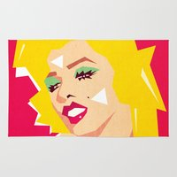 pop art Area & Throw Rugs featuring pop art  by mark ashkenazi