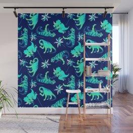 Dinosaur Pattern Wall Mural