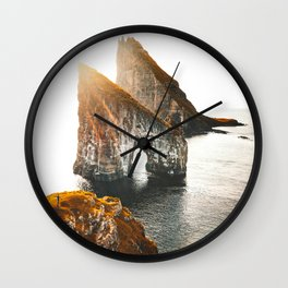 view of Faroe islands Wall Clock