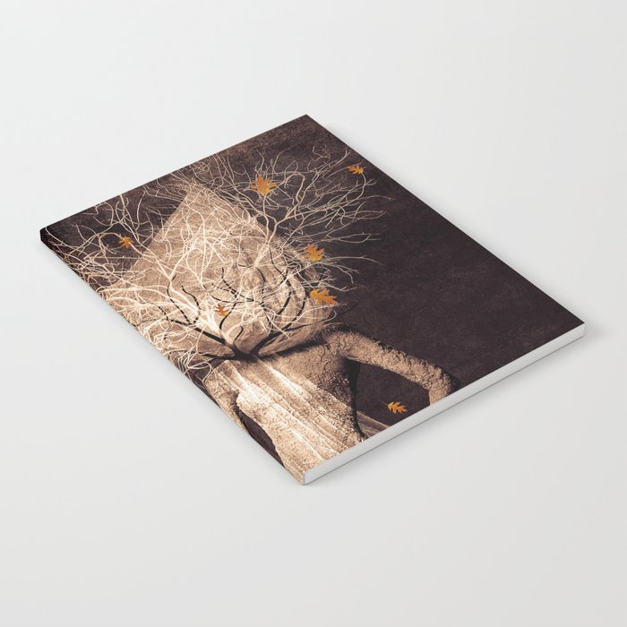 Dark portrait in autumn (colour option) Notebook