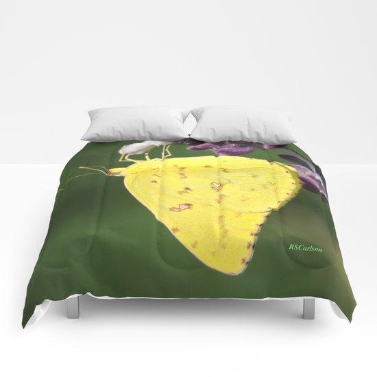 Orange Sulphur Butterfly Comforters