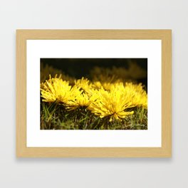 Beautiful Yellow  Framed Art Print