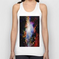 galaxy Tank Tops featuring GaLaXY : Orion Nebula Dark & Colorful by GalaxyDreams