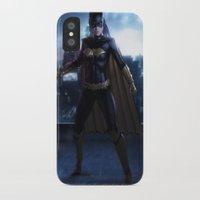 batgirl iPhone & iPod Cases featuring Batgirl by patriciogandara