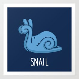 A Snail (That is Definitely not an Octopus) Art Print
