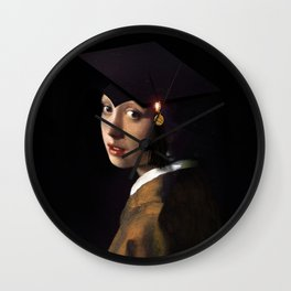 Girl with the Grad Cap Wall Clock