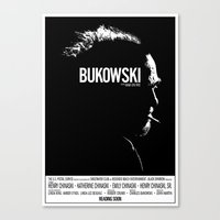 bukowski Canvas Prints featuring Bukowski by ikado