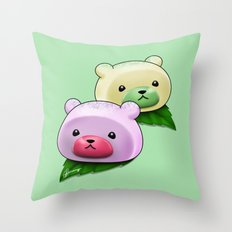 Mochi Bears Throw Pillow