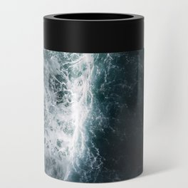 Oceanscape - White and Blue Can Cooler