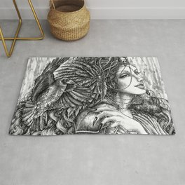 Goddess Morrigan Rug