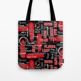 Gamer Lingo-Black and Red Tote Bag