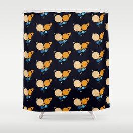 Solar System Heart pattern Shower Curtain