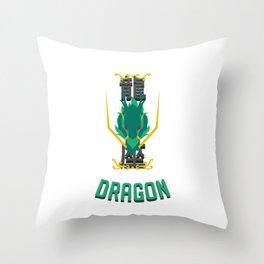 Saint of the Dragon Throw Pillow
