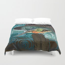The King Fisher stake out Duvet Cover