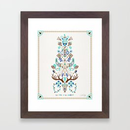 La Vie & La Mort – Turquoise and Brown Framed Art Print