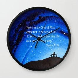 Matthew 20:28 Wall Clock