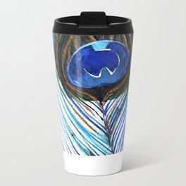 Peacock Feather II Metal Travel Mug