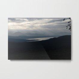 Mountains Omo River Foggy Dawn Landscape, Ethiopia, Africa Metal Print
