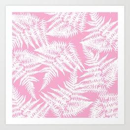 Rose Fern Art Print