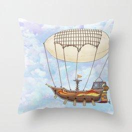 Airship Throw Pillow