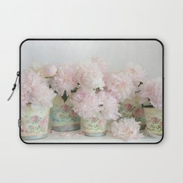 Shabby Chic Dreamy Pastel Peonies Floral Home Decor Laptop Sleeve