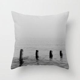 Five Stumps - Black and White Throw Pillow