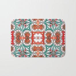 Seamless Floral Pattern Ornamental Tile Design : 7 Bath Mat