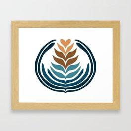 Sandy Beach 10 Stack Framed Art Print