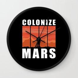 Mars Landing | Colonize Mars | Space Travel Gift Wall Clock