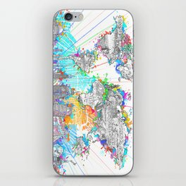 world map city skyline 6 iPhone Skin