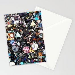 Colorful Layers of Geometric Shapes Stationery Cards