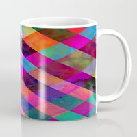 rio Mugs featuring Rio Plaid by Schatzi Brown