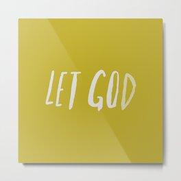 Let God x Mustard Metal Print