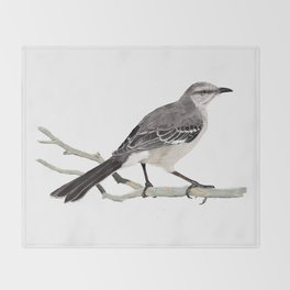 Northern mockingbird - Cenzontle - Mimus polyglottos Throw Blanket
