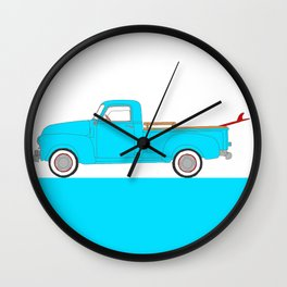 Classic Surf Truck – Blue and Red Wall Clock