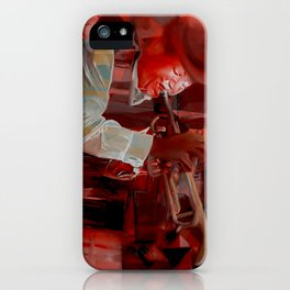Jazz Man Abstract iPhone Case