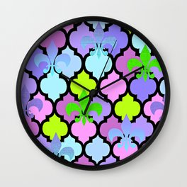 Moroccan and FDL Wall Clock