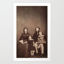 poker face family Art Print