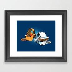 Daft Duck Framed Art Print