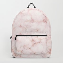 Blush Pink Abstract Marble Pattern Backpack