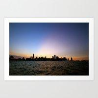 Chicago Skyline - Blackout Art Print