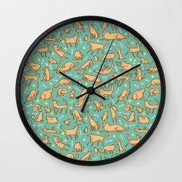 Pup Pattern Wall Clock