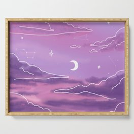 Purple Sunset View Serving Tray