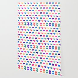 Colorful Cute Hearts III Wallpaper